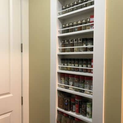Spice Things Up With a – DIY Built-In Spice Rack