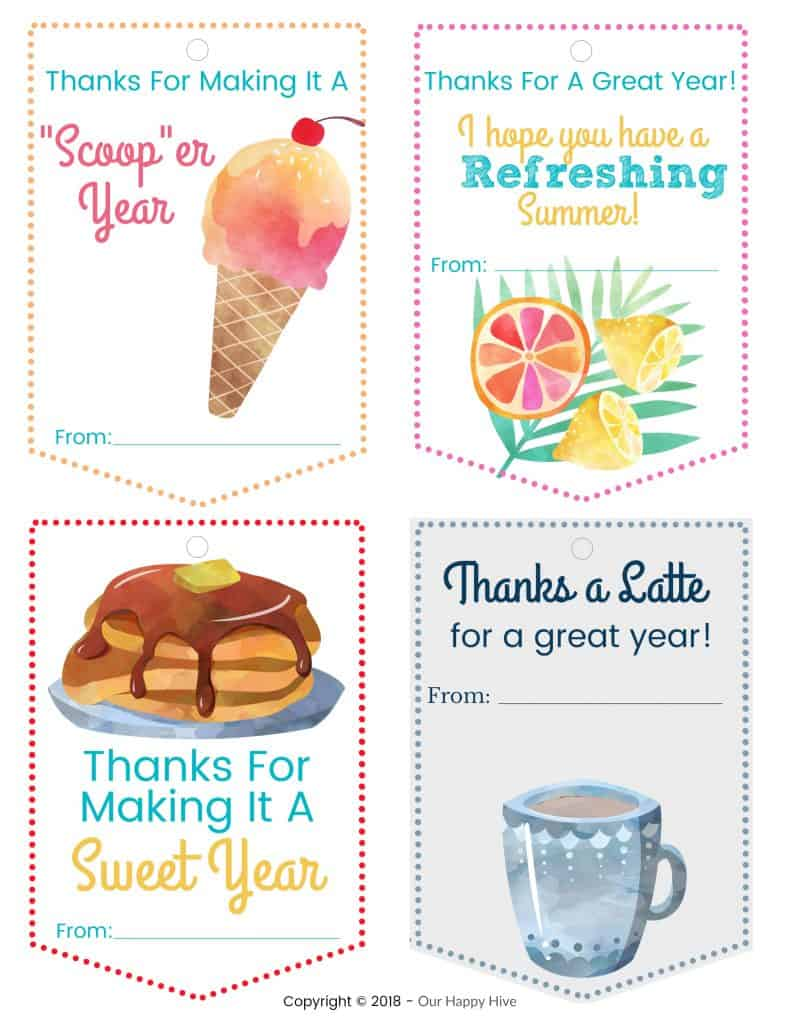 photograph relating to Have a Sweet Summer Printable referred to as Instructors Items They Will Take pleasure in Oneself Will As well with Absolutely free