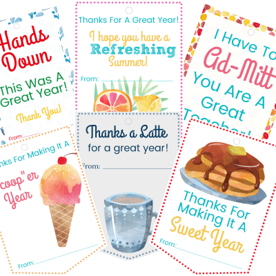 Teachers Gifts They Will Love & You Will Too – with FREE Printable Gift Tags