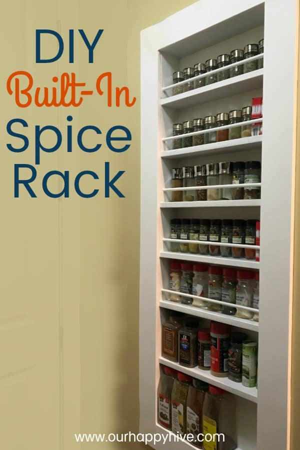 Vertical Built In Spice Rack with text - DIY Built In Spice Rack
