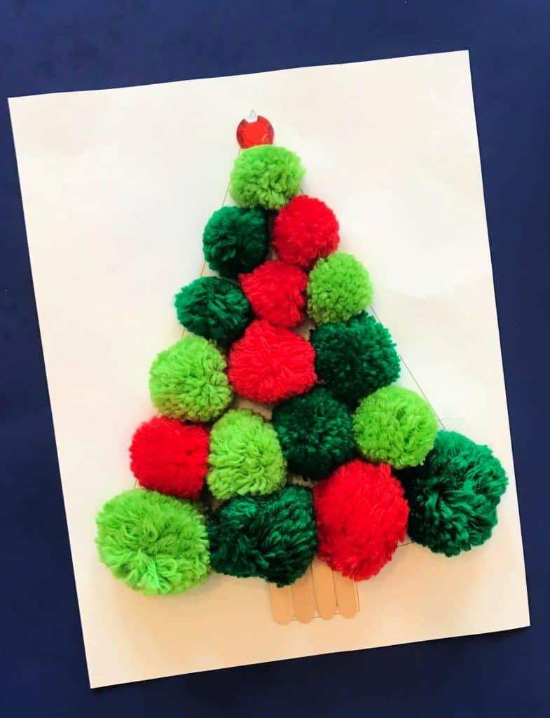 Pom-Pom Christmas Tree