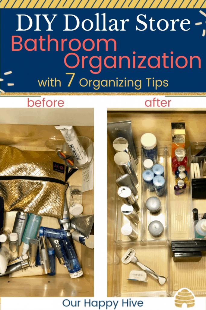 Diy Dollar Store Bathroom Organization 7 Organizing Tips