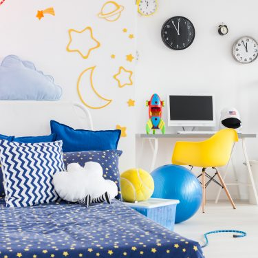 Organized kids room free of clutter