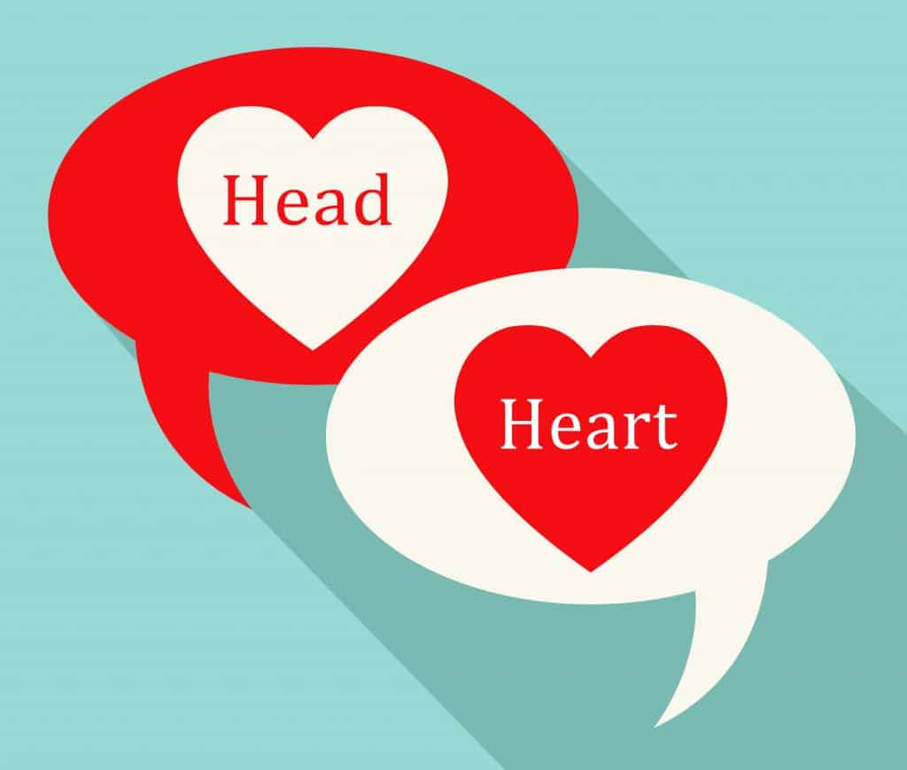 Head Vs Heart Symbol