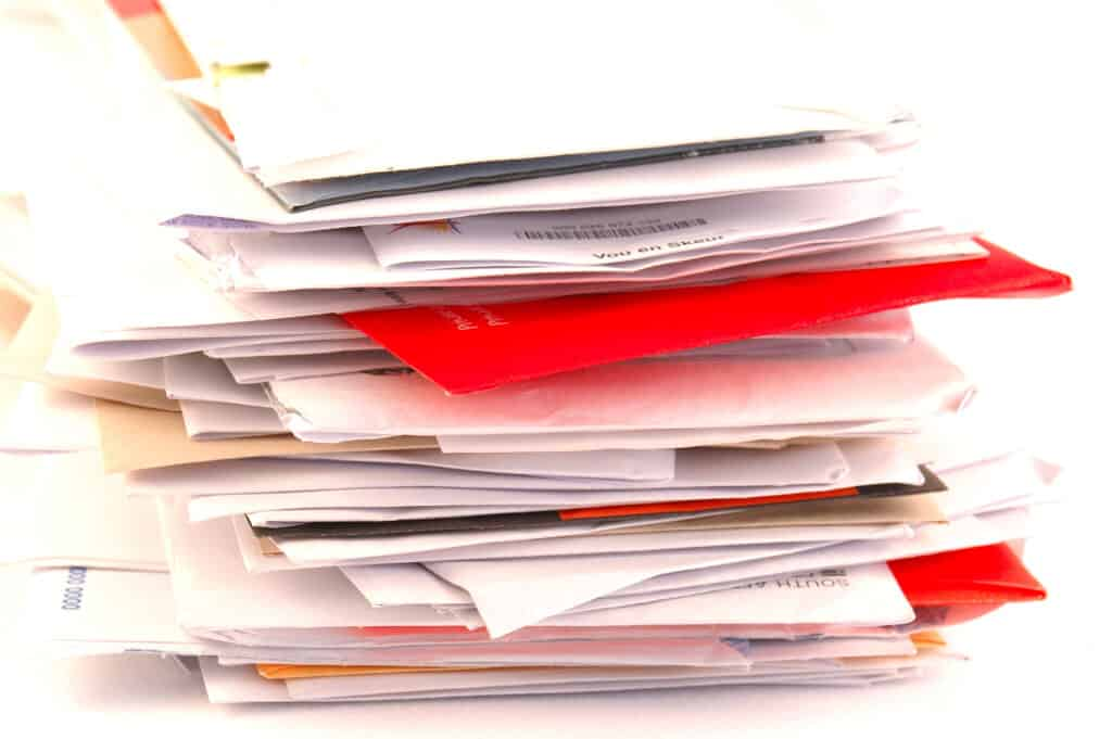 Pile of papers - easy decluttering project