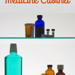 Medicine Cabinet with text How to Organize Your Medicine Cabienet