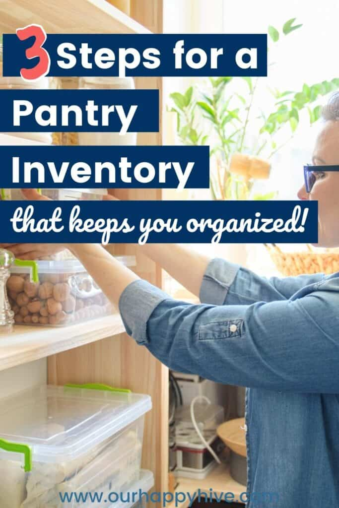 pantry inventory tips pin image B