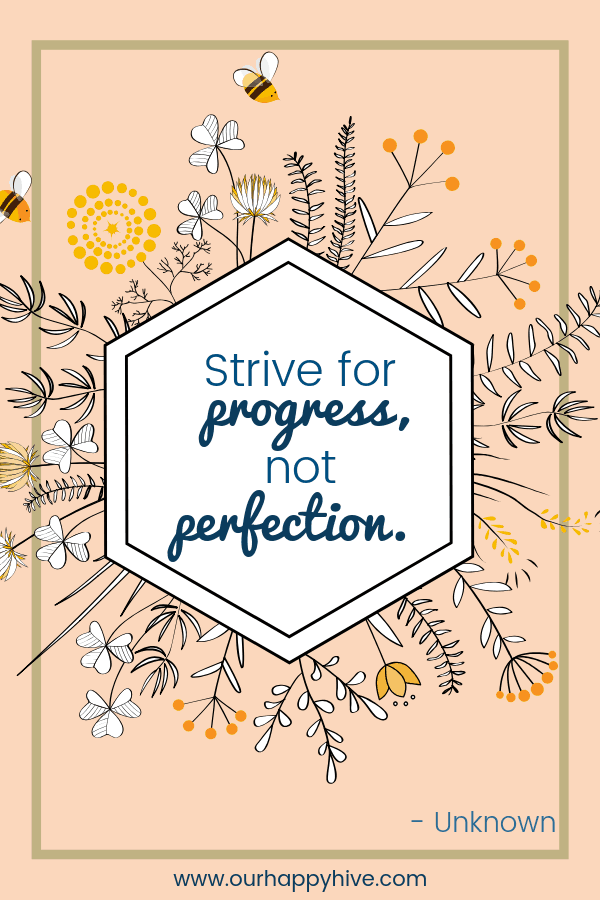Strive for progress not perfection. - Unknown