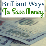 close up of 100 dollar bills with text 50+ Brilliant Ways to Save Money