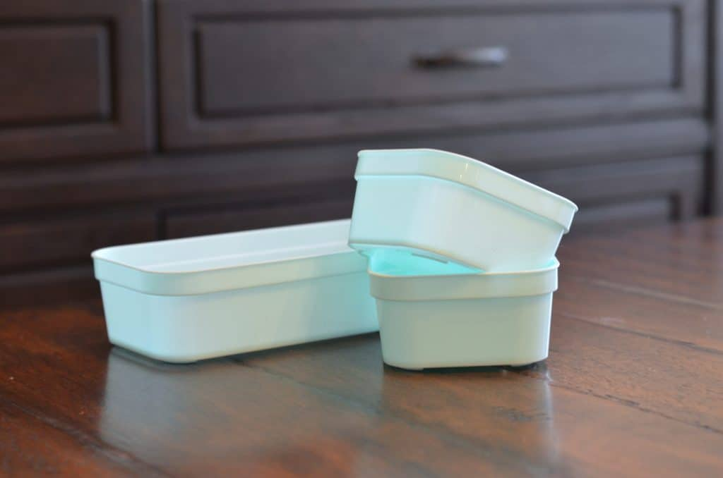 three containers for organizing