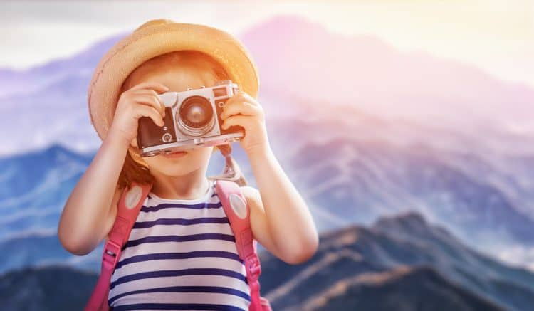 young kid looking for adventure and summer fun