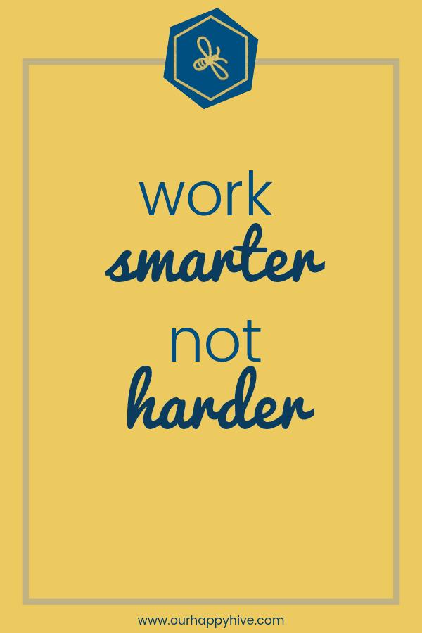 Worker smarter not harder